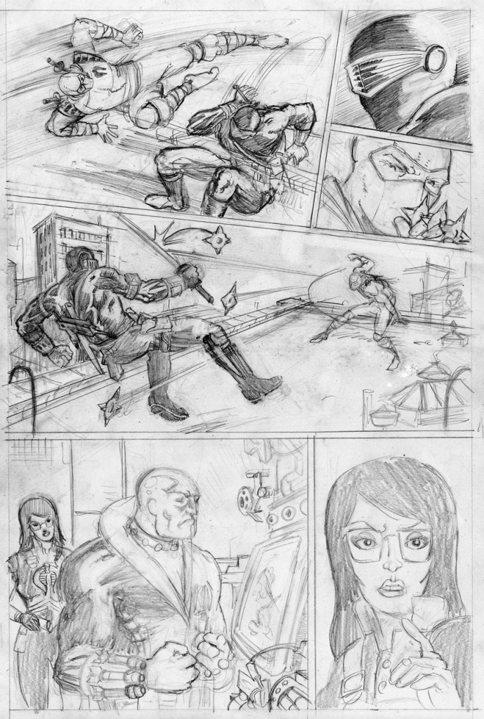 Fiffe's G.I. JOE page 2 pencil